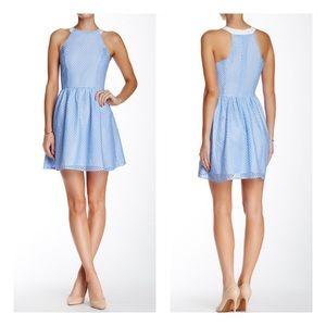 Bloomingdale's Lace Halter Fit N Flare Dress M